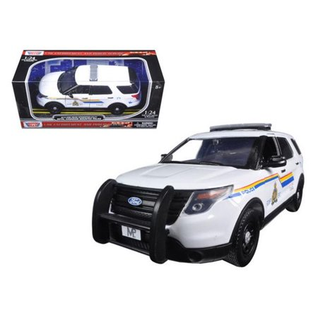 Motormax 76961 2015 Ford Police Interceptor Utility RCMP Royal Canadian Mounted Police Car with Light Bar 1-24 Diecast Model Car Sweetheart Royal Length Train