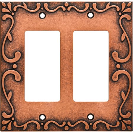 Franklin Brass Classic Lace Double Rocker Wall Plate in Sponged (Plated Brass Lace)