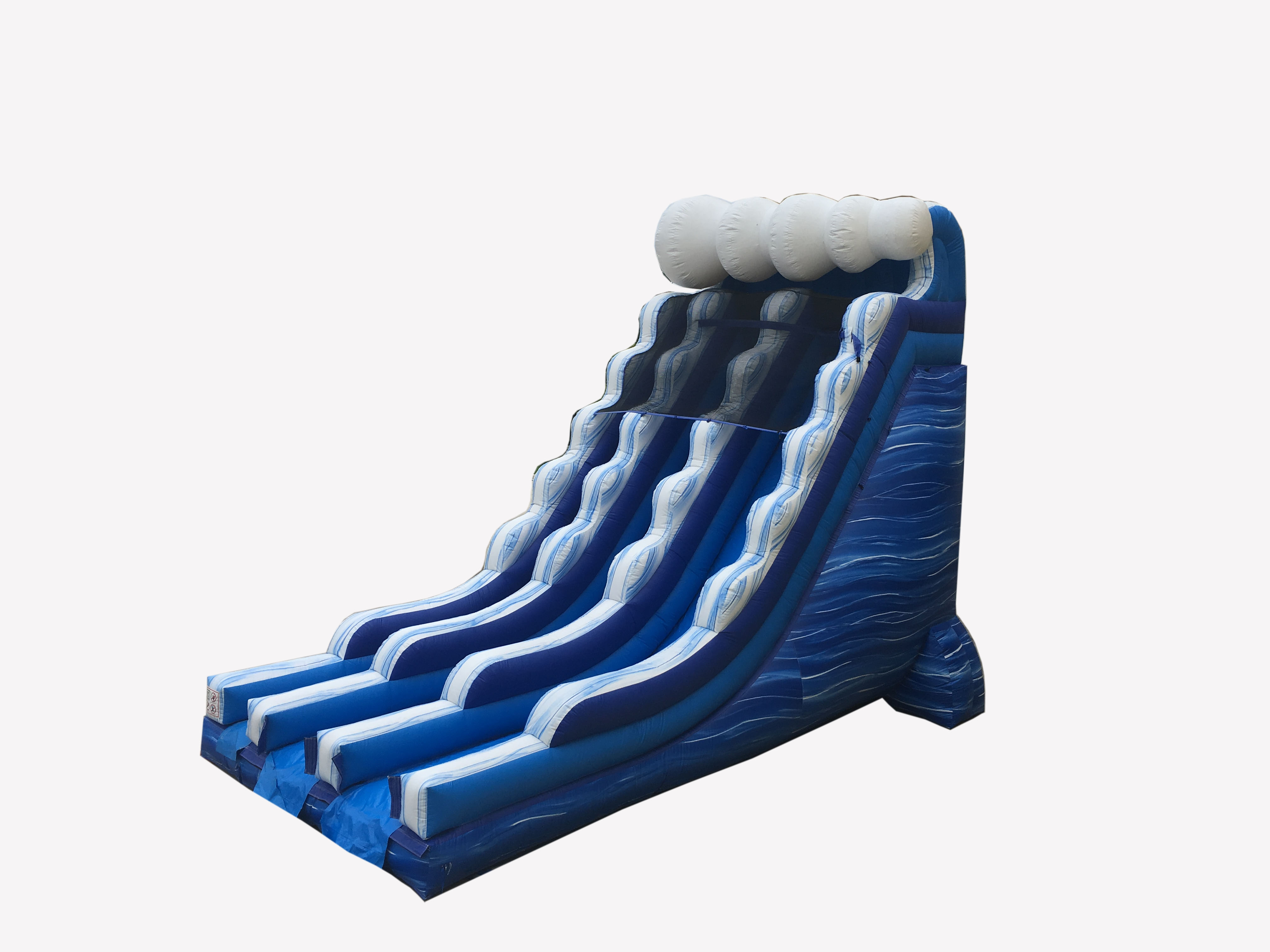 Pogo 22' Blue Marble Commercial Kids Inflatable Double Lane Waterslide with Blower by Pogo Bounce House