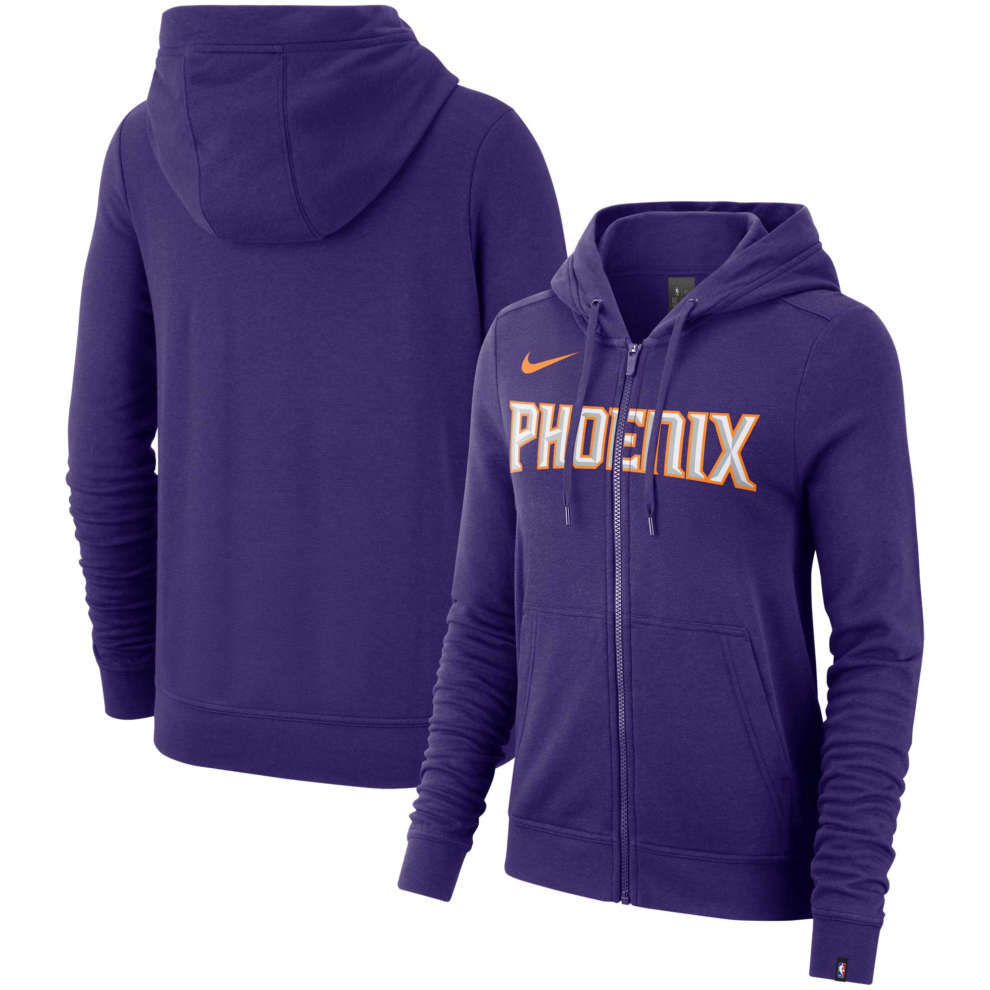 Phoenix Suns Nike Women's Essential Wordmark Full-Zip Hoodie - Purple