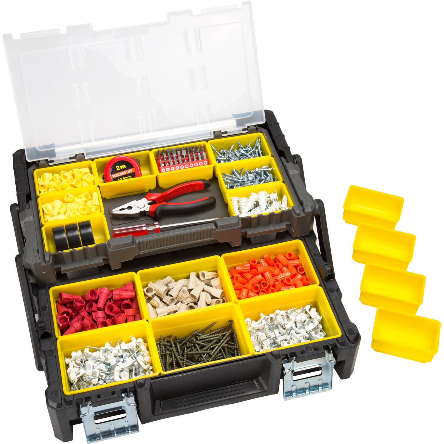 """Stalwart Parts and Crafts Tiered-Storage Tool Box 18"""" by Trademark Global LLC"""