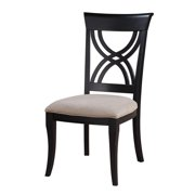 Brighton -Side Chair Ready To Assemble Upholstered Seat-Finish:Black,Quantity:2 Pack