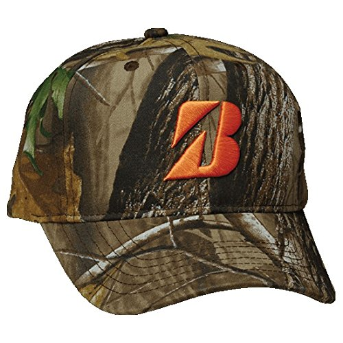 Bridgestone Golf RealTree Camouflage Cap Hunters Orange