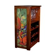 """""""Deer in Forest"""" by Marc Franz Wine Cabinet"""