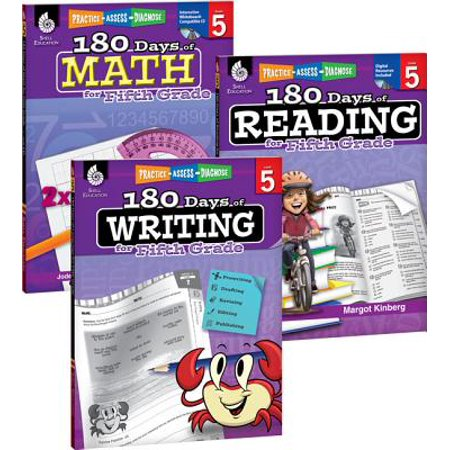 180 Days of Reading, Writing and Math for Fifth Grade - Halloween Math Centers First Grade