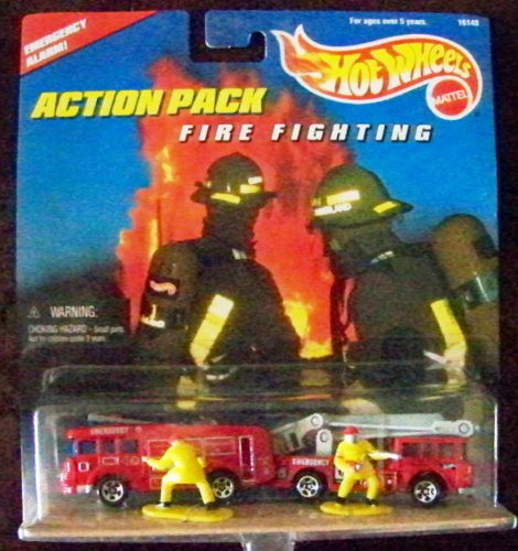 Hot Wheels Fire Fighting 1996 Action Pack with 1:64 Scale Collectible Die Cast Metal Toy Cars Models