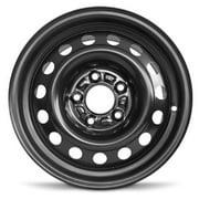 """Road Ready 15"""" Steel Wheel Rim for 11-16 Hyundai Elantra 14-18 Kia Forte15x6 inch Black 5 Lug"""