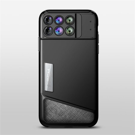 buy popular e3627 4ab19 Allytech 6 in 1 Dual Optics Lens System Case for iPhone Xs Max, Fisheye,  Telephoto, Wide-Angle, Macro and Super Macro Two Layers TPU + PC  Protection, ...