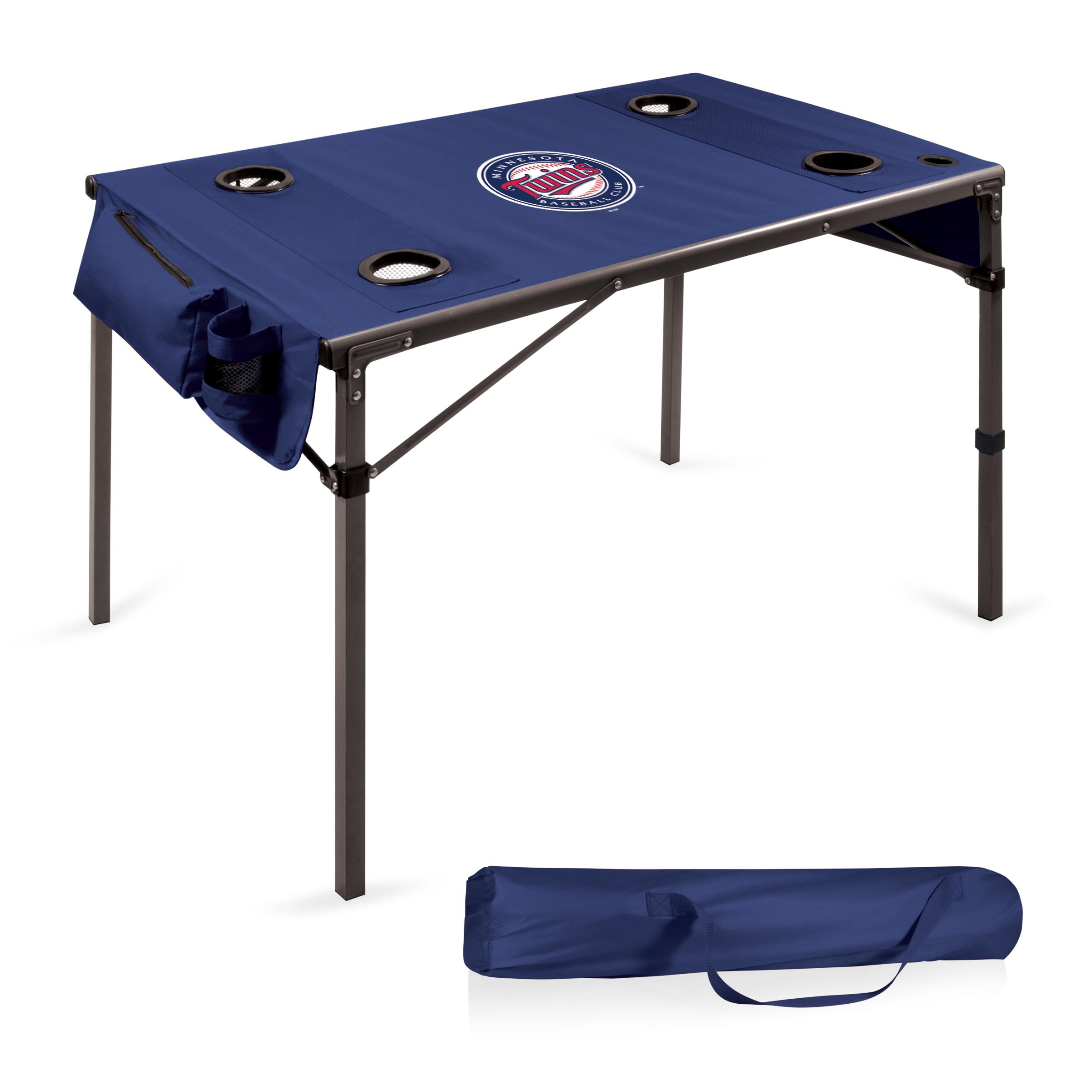 Minnesota Twins Portable Folding Travel Table - Navy - No Size
