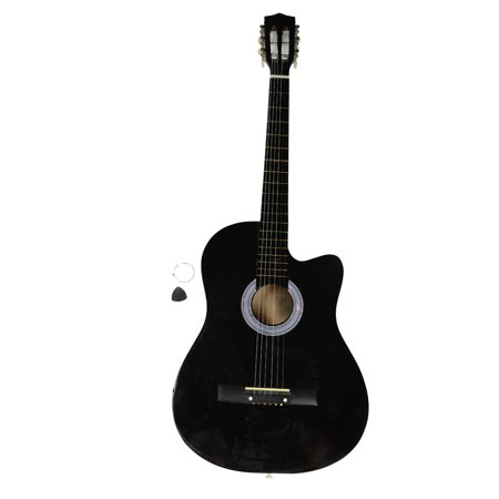Ktaxon 38 Inch Acoustic Guitar Cutaway 6 Steel Strings for (Morrell Steel Guitar)