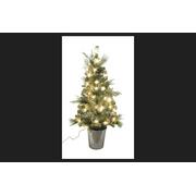 Celebrations Home Clear Prelit PVC Porch Tree 50 lights 208 tips 4 ft.