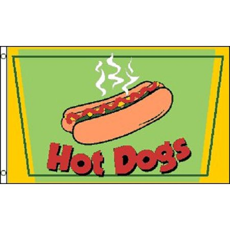 Tent Banner (HOT DOGS Flag Restaurant Advertising Banner Food Stand Pennant Dog Tent Sign)