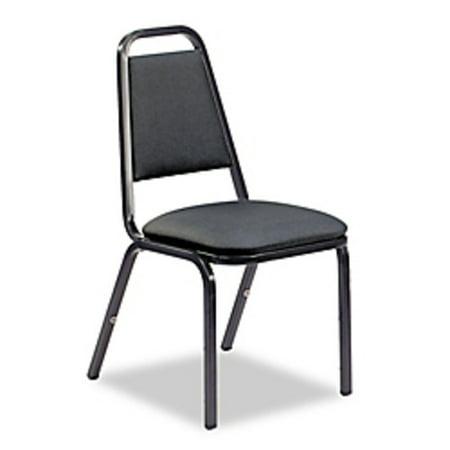 Virco Vinyl Upholstered Stacking Chair Black