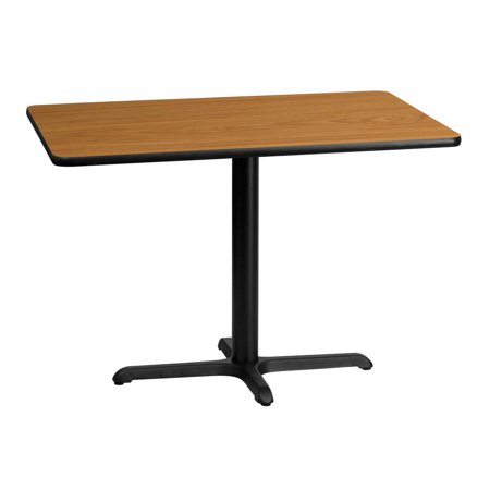 30'' x 42'' Rectangular Natural Laminate Table Top with 22'' x 30'' Table Height Base (Rectangular Natural Base)