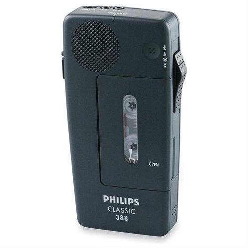 Philips Pm388 Mini Cassette Voice Recorder Portable (LFH038800B) by Philips