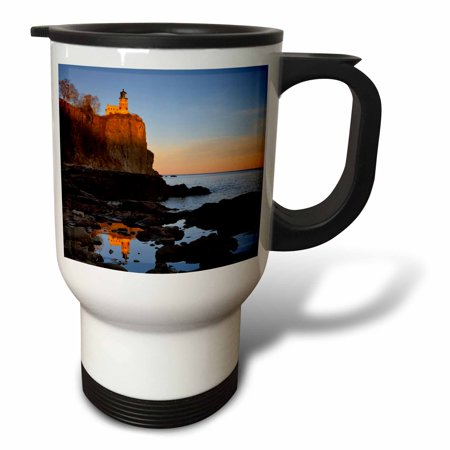 3dRose Split Rock Lighthouse, Two Harbors, Minnesota - US24 CHA0071 - Chuck Haney, Travel Mug, 14oz, Stainless Steel