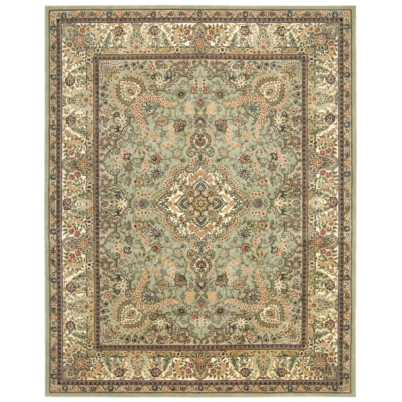 Nourison 2000 2005 Oriental Rug Light Green-2.6 x 12 ft. Runner by Nourison