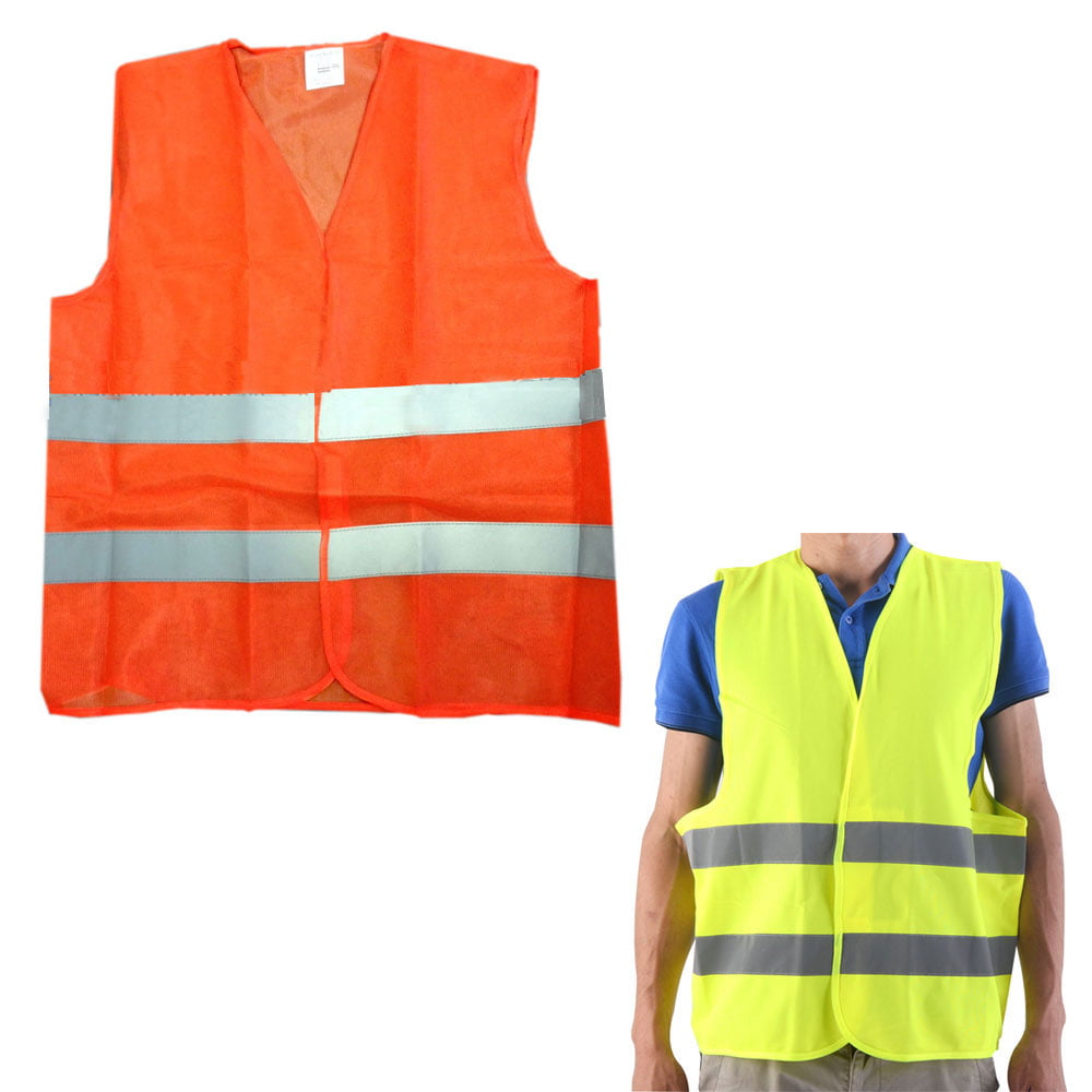 1 Reflective Safety Vest Mesh School Emergency Construction Traffic Neon Colors by DOLLAR EMPIRE
