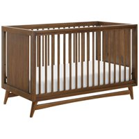 Babyletto Peggy 3-in-1 Convertible Crib with Toddler Bed Conversion Kit - Walnut
