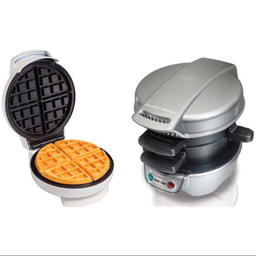 Hamilton Beach Breakfast Sandwich & Belgian Waffle Maker Bundle | 25475 + 26070