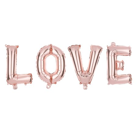 Non Floating Love Letters 13 Inch Foil Balloons Rose Gold Balloon