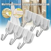 Valink 6Pcs/set Wall Door Sticky Hanger Strong Adhesive Plastic Hook Holder for Home Kitchen Bathroom