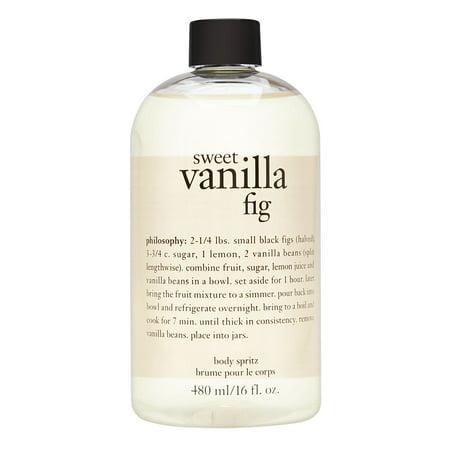 Philosophy Sweet Vanilla Fig 16.0 oz Body Spritz (No Pump)