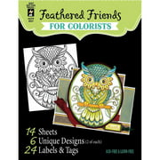 """Hot Off The Press Coloring Book, 5"""" x 6"""", Birds and Owls"""