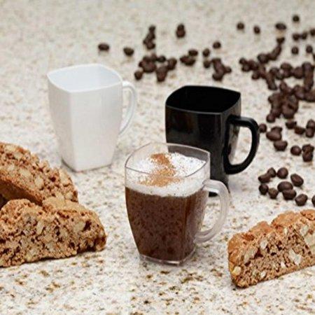EMI Yoshi Koyal Solid Square Espresso Mugs, 2-Ounce, Clear, Set of 96
