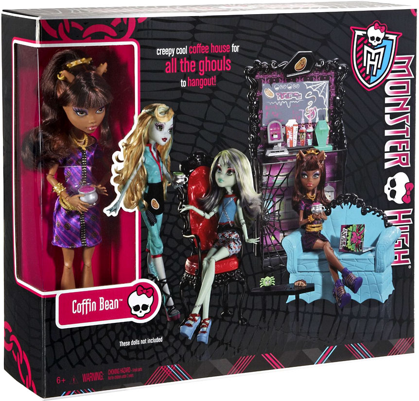 Monster High Coffin Bean Clawdeen Wolf Play Set