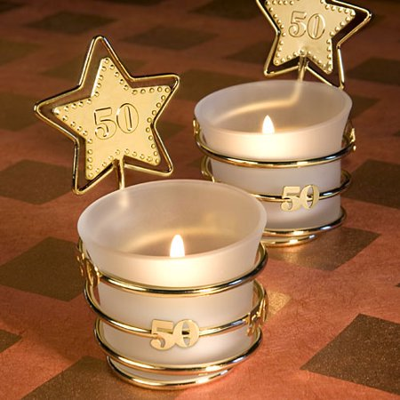 Gold Star Design 50th Anniversary Celebration Favors - Gold Star Trophies