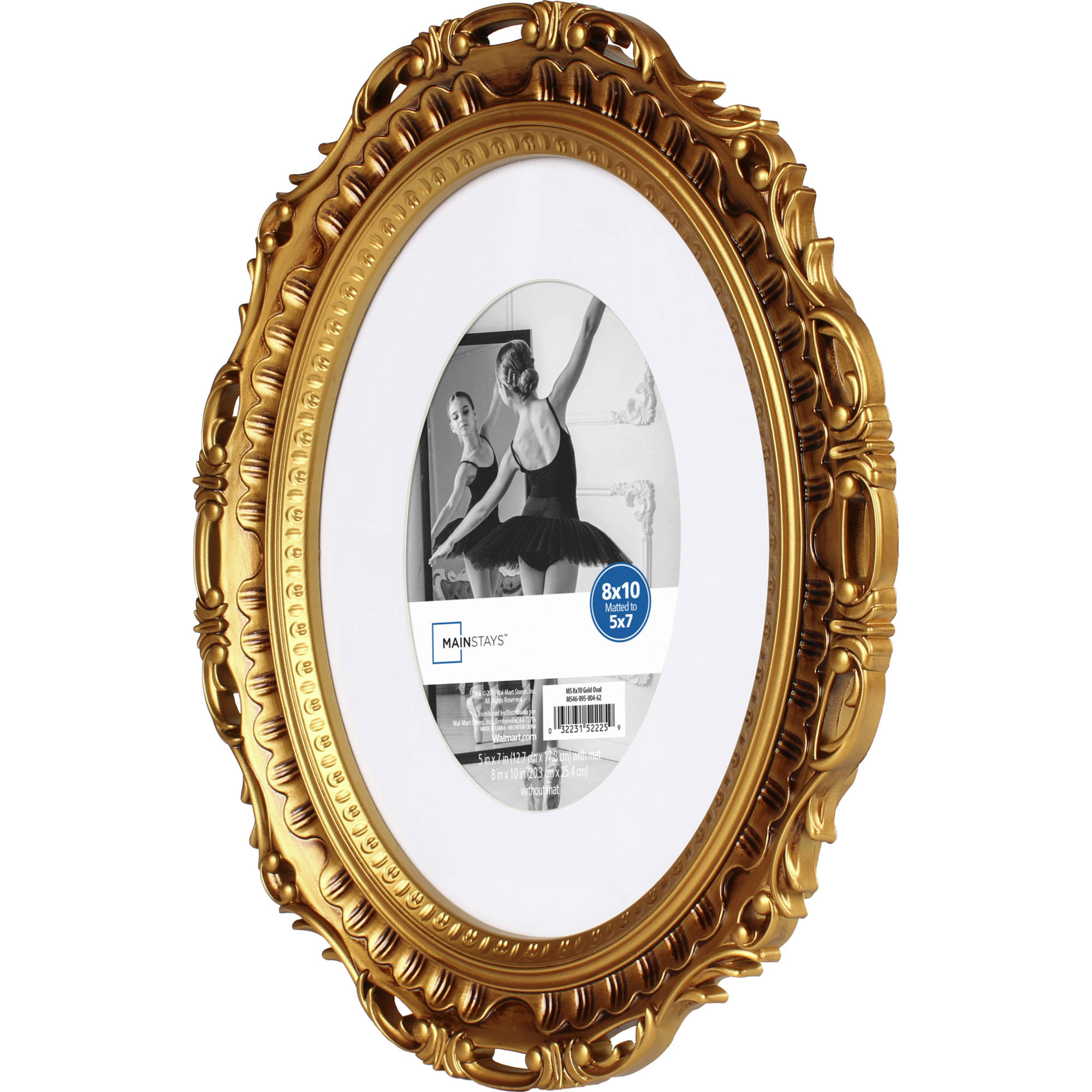 Mainstays Gold 8x10 Matted To 5x7 Oval Picture Frame Walmartcom