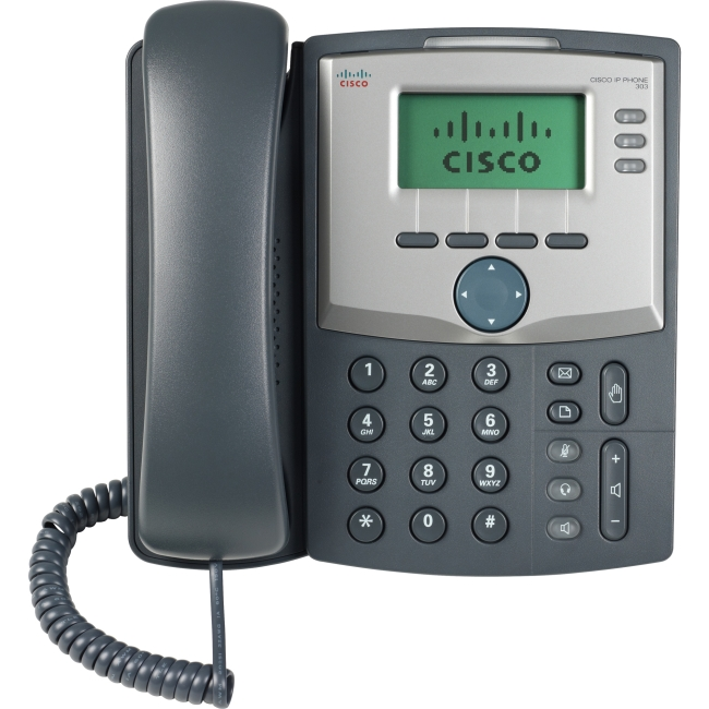 Cisco SPA 303 IP Phone Cable Wall Mountable 3 x Total Line VoIP Caller ID 2 x Network (RJ-45) Monochrome by Cisco