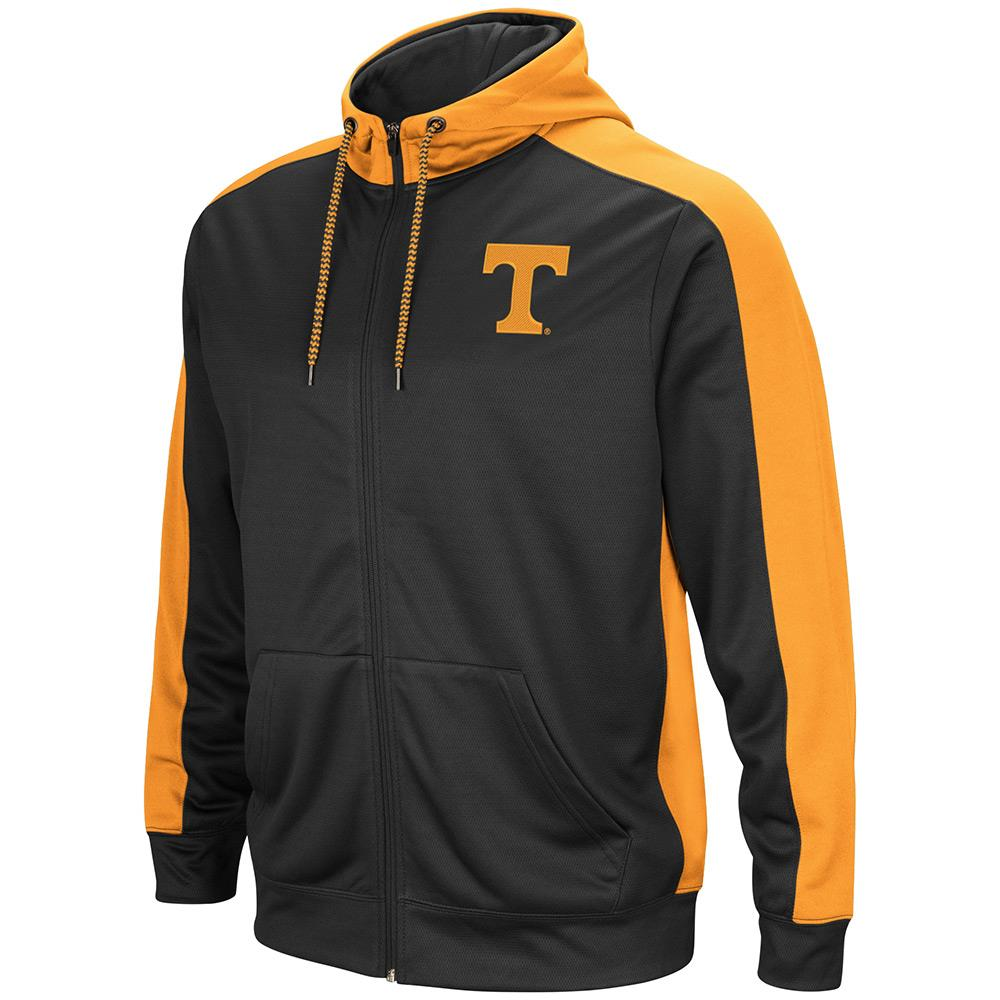 Mens NCAA Tennessee Volunteers Full-zip Hoodie (Charcoal) by Colosseum