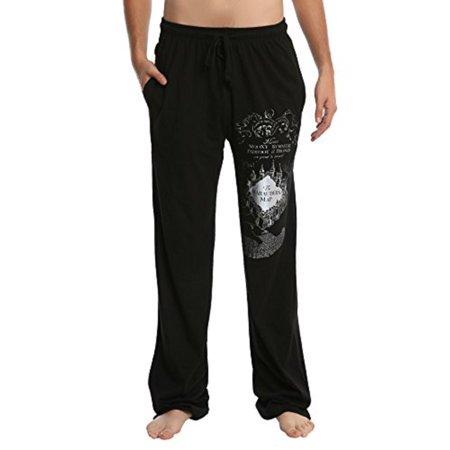 Harry Potter Marauder's Map Foil Guys Men's Lounge Pants Pajama Bottoms Sleep Pants (X-Small) ()