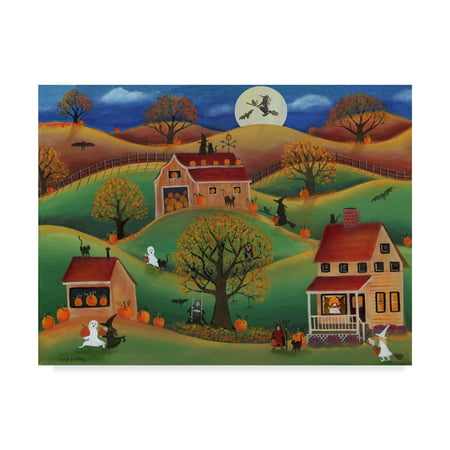 Trademark Fine Art 'Halloween Autumn Pumpkin Farm' Canvas Art by Cheryl Bartley (Pumpkin Art)