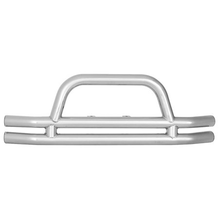 3 Inch Rear Double Tube Bumper without Hitch in Stainless Steel ()