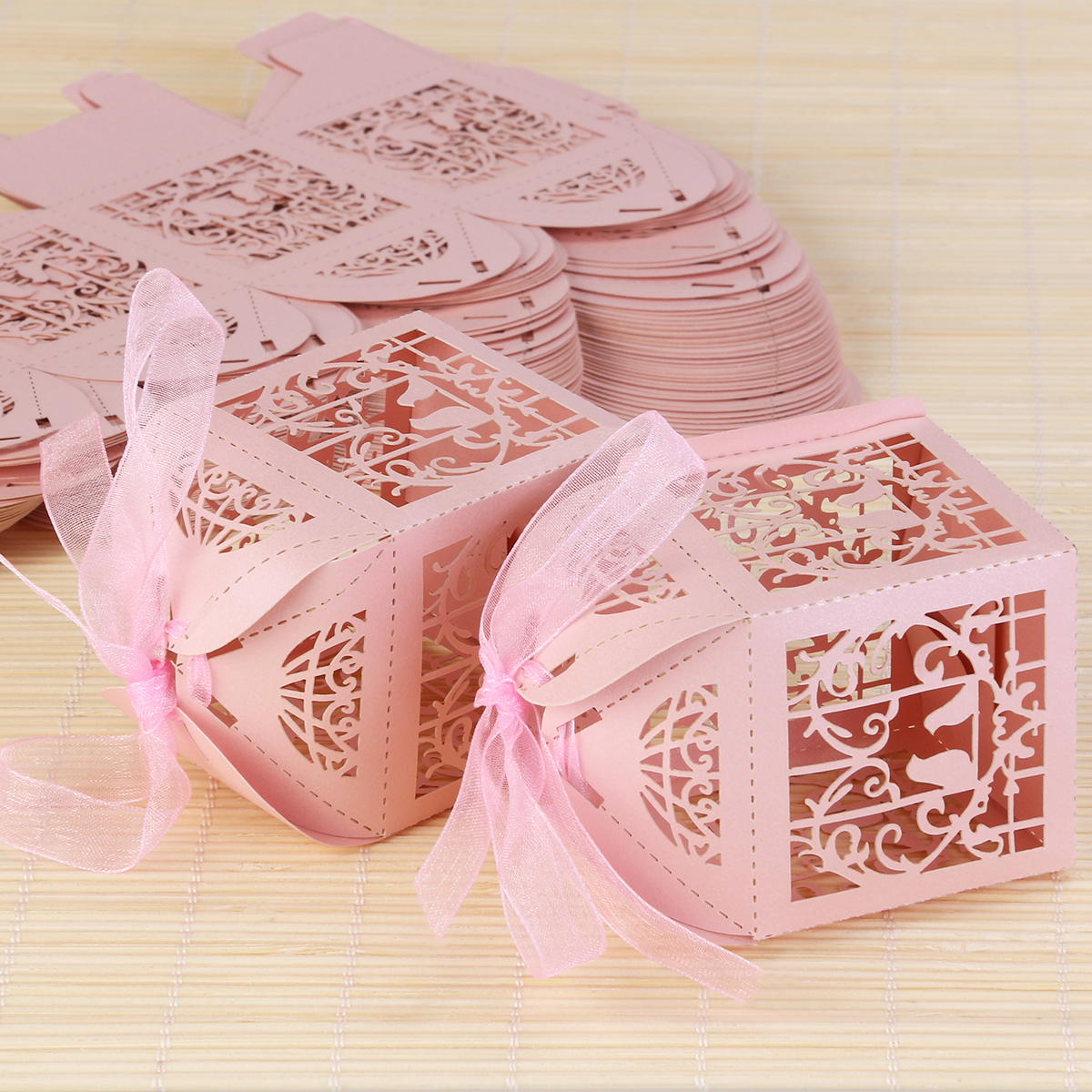 ULTNICE 50pcs Hollow Bird Style Wedding Favor Gift Boxes Candy Boxes ...