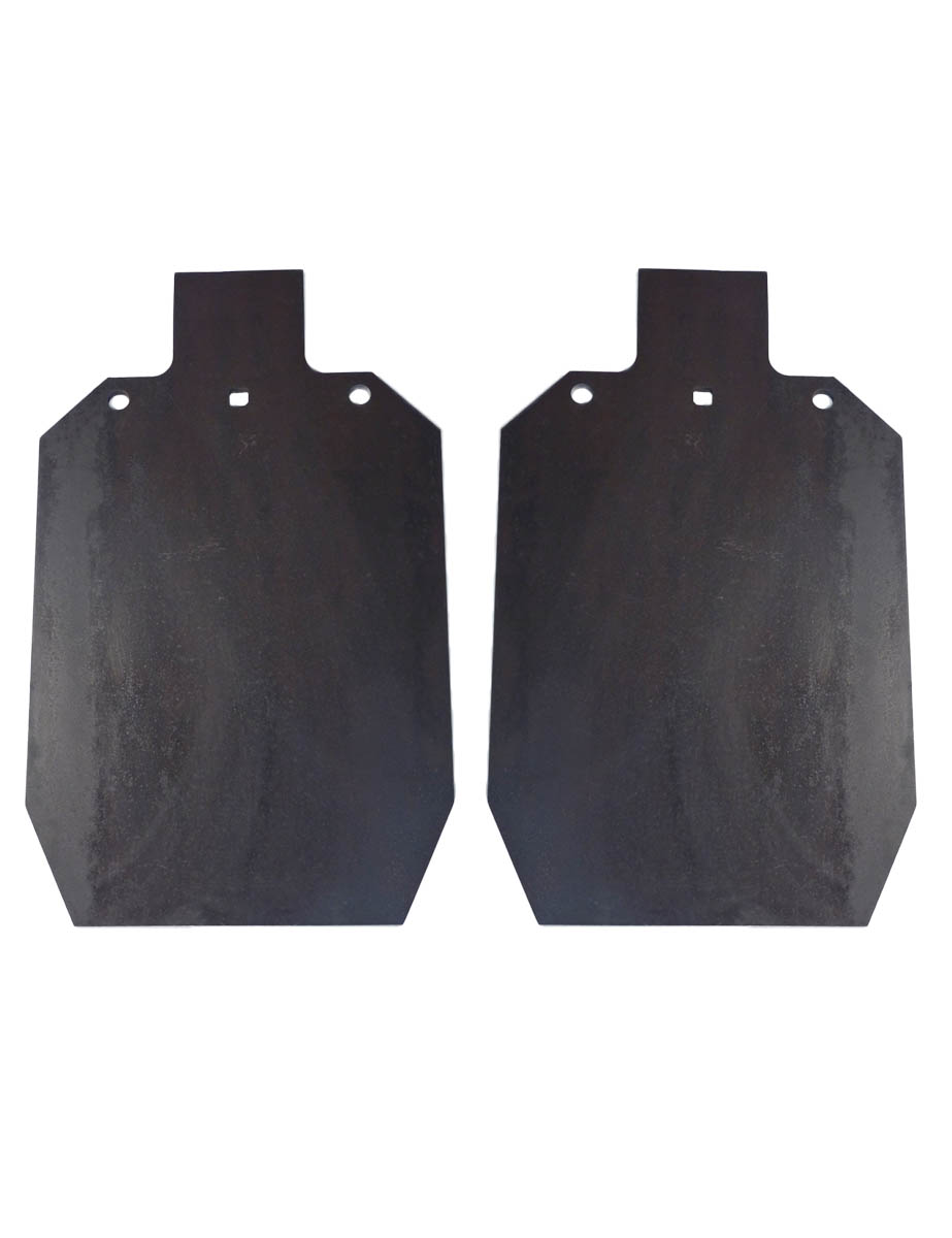 "(2) Two Laser Cut IDPA IPSC 2 3 AR500 12"" x 20""   3 8"" Shooting Targets Gong by Tactical Scorpion Gear"