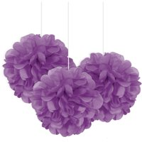Tissue Paper Pom Poms, 9in, 3ct (Click to Select Color)