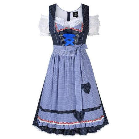 Women's German Dirndl Dress 3 Pieces Oktoberfest Costumes