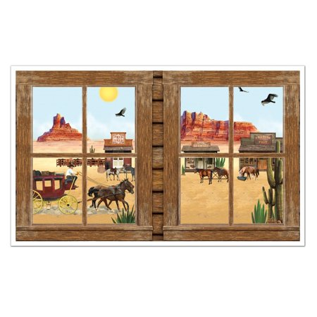Pack of 6 Old Country Western Window View Party Themed Wall Decorations 62