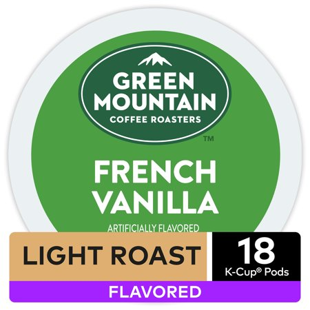 Green Mountain Coffee French Vanilla, Flavored Keurig K-Cup Pod, Light Roast, 18
