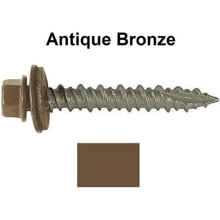 Metal Roofing Screws 750 10 X 2 Quot Antique Bronze Hex