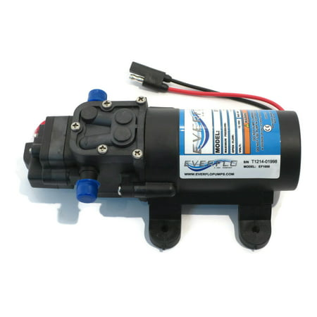 EVERFLO 12 Volt 1.0 GPM Diaphragm Water Pump 40 psi Lawn Sprayers, Boats, RV's by The ROP Shop ()