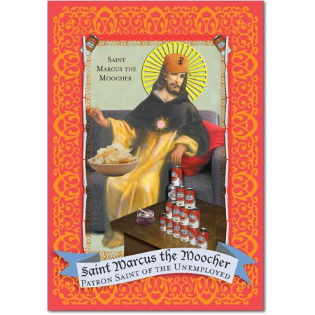 Graduate Card - St. Marcus - Humorous Graduation Card with Envelope (4.63 x 6.75 Inch) - Religious Theme, Funny Congratulations Card for College Graduate - Inspiring College Graduation Note Card Stationery 9031