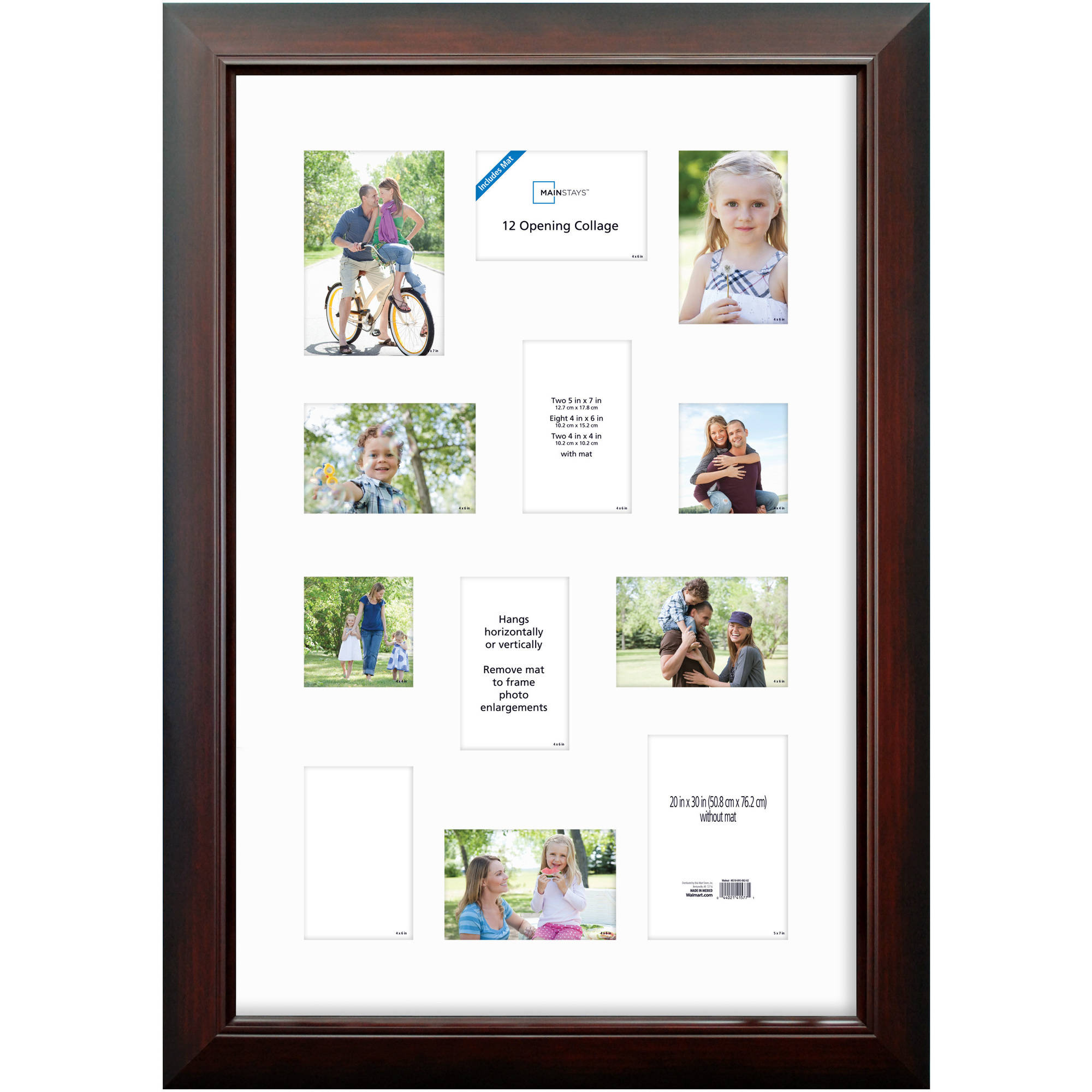 Mainstays Wide Collage Poster Frame Waln - Walmart.com
