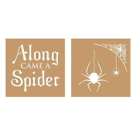 Decoart Value Kraft Stencil 8x8 Halloween Spider](Owl Halloween Stencil)