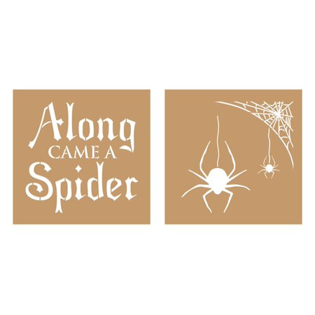 Decoart Value Kraft Stencil 8x8 Halloween Spider - Halloween Pumpkin Stencils Star Wars