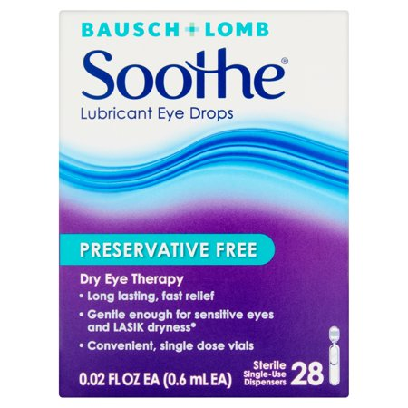 Bausch + Lomb Soothe Lubricant Eye Drops - 28 CT